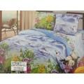 Комплект постельного белья 2 спальный 215*175 европростынь бязь, плотность 125 Лебединное озеро