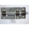 Задвижка дверная ЗД-01 полимер серебро *20