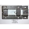 Задвижка дверная ЗД-02 полимер серебро *20