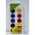 Акварель ГАММА Пчелка 12 цветов  пластиковая упаковка, без кисти, 212040 *39