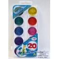 Акварель ГАММА Страна Эльфов перламутровая 20 цветов, без кисти, пластиковая упаковка, 212061 *33