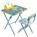 Комплект детский складной с рисунком  КУ3(стол-парта+пенал+стул мягкий)