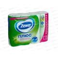 Бумага туалетная ЗЕВА+ 2-х слойная Яблоко 12шт *7