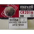 MAXELL CR-2016 BP-5 *5/100