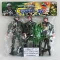 Воен. набор РАС 11см Combat Set (3 солдата, собака, оруж) 178, К23610