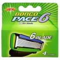 DORCO PACE6 4шт Green сменные  кассеты с 6 лезвиями SX A1040g *12