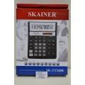 Калькулятор SKAINER SK-777XBK 12разрядный красный бухгалтерский настольный