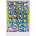 Плакат ЛиС А2 Алфавит английский, лакированный, ПД-060 *100