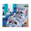 Комплект постельного белья 1.5спальный 215*150 бязь набивная ,плотность 125 Формула