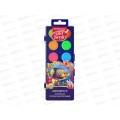 Акварель EK Artberry 12 цветов, неоновая, пластиковая упаковка, защита яркости, 41727 *7/56