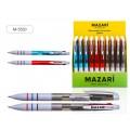 Ручка автоматическая 3цветная MAZARI Darty масляная, игла 0.7мм, цветной корпус, асс., M-5520D *50/600