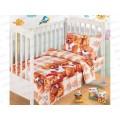 Комплект постельного белья  детский бязь Мишутки 150*100