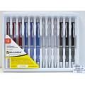 Ручка автоматическая BRAUBERG-424 Breeze серебряные детали, корпус в ассортименте *12/60