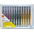 Ручка автоматическая BRAUBERG-429 Quantum корпус асс.серебрянные.детали синяя *12/60