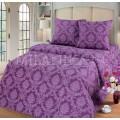 Комплект постельного белья 1,5 спальный Поплин-жаккард Сапфир