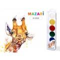 Акварель MAZARI медовая  Animals Park 6 цветов , без кисточки, пластиковая упаковка М-2050*50