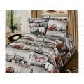 Комплект постельного белья 1.5 спальный 215*150 бязь набивная, плотность 125 Лондон