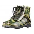 Ботинки подростковые  104+1 ПВХ Силиконовые  камуфляжные  со шнуровкой  р.38