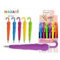 Ручка автоматическая  MAZARI Umbrella, синяя, 0.7мм, пластиковый корпус, M-7328*24/240