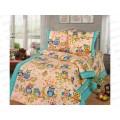 Комплект постельного белья 1.5спальный 215*150 бязь набивная ,плотность 125 Совушки