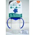 Бутылочка для кормления 150мл цилиндр с ручкой синий 2969782/2969790