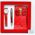 Набор подарочный женский(автоматическая ручка,часы,футляр для телефона) МС-3454 *18