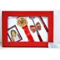Набор подарочный женский (автоматическая ручка,часы,фоторамка,брелок с подвеской) МС-3455 *18