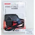Зарядное устройство REXANT microUSB 5В, 1500мА, 1.20м, черное, 16-0260-1