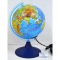 Глобус физико-политический,d-150мм,с подсветкой,Ке011500201