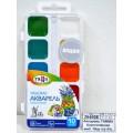 Акварель ГАММА Классическая медовая 10 цветов  пластиковая упаковка, без кисти, 216018 *39