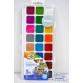 Акварель ГАММА Классическая медовая  24 цветов  пластиковая упаковка, без кисточки, 216021 *28
