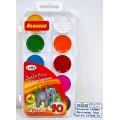 Акварель ГАММА Мультики  10 цветов  пластиковая упаковка, без кисти, 211046_10 *33