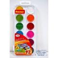 Акварель ГАММА Мультики New 12 цветов  пластиковая упаковка, без кисти, 211046_12 *39