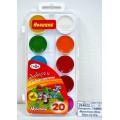 Акварель ГАММА Мультики New 20 цветов  пластиковая упаковка, без кисти, 211046_20 *33