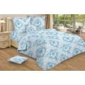 Комплект постельного белья 1,5 спальное Бязь 120гр НН Лунный свет (синий)