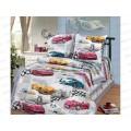 Комплект постельного белья  1.5спальный 215*150 бязь набивная ,плотность 125 Форсаж