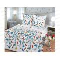 Комплект постельного белья 1.5спальный 215*150 бязь набивная,плотность125 Бабочки