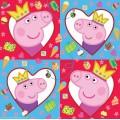"""Салфетки &quotПеппа-принцесса"""" 33*33см 12шт, 34953"""