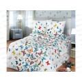 Комплект постельного белья 2 спальное 215*175 европростынь бязь, плотность 125 Бабочки