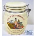 Банка для сыпучих продуктов  Country Kitche 840мл, d=12см, h=16см подарочной упаковке L0210041 *24