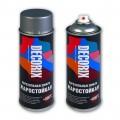 Аэрозольная эмаль жаростойкая до +800 DECORIX, 520мл, графитово-черный RAL 9011 *12