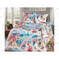 Комплект постельного белья 1.5спальный 215*150 бязь набивная, плотность 125 Бэль
