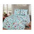 Комплект постельного белья 1.5спальный 215*150 бязь набивная,плотность 125 Мечта