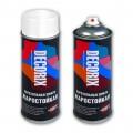 Аэрозольная эмаль жаростойкая до +800 DECORIX, 520мл, бело-алюминиевый RAL 9006 *12