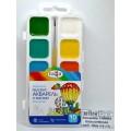 Акварель ГАММА Классическая медовая 10цветов пластиковая упаковка с кисточкой, 216018.01 *39