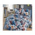 Комплект постельного белья 1.5 спальный 215*150 бязь набивная,плотность 125 Лидер