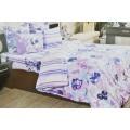 Комплект постельного белья 1,5сп Бязь 120гр НН Акварель (фиолетовый)