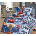 Комплект постельного белья 1.5 спальный 215*150 бязь набивная ,плотность 125 Роботы