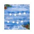 Бусы на елку 140см снежные шарики 4322938