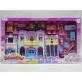 Дом для куклы 8159-1 с фигурками и мебелью в коробке *3   гб